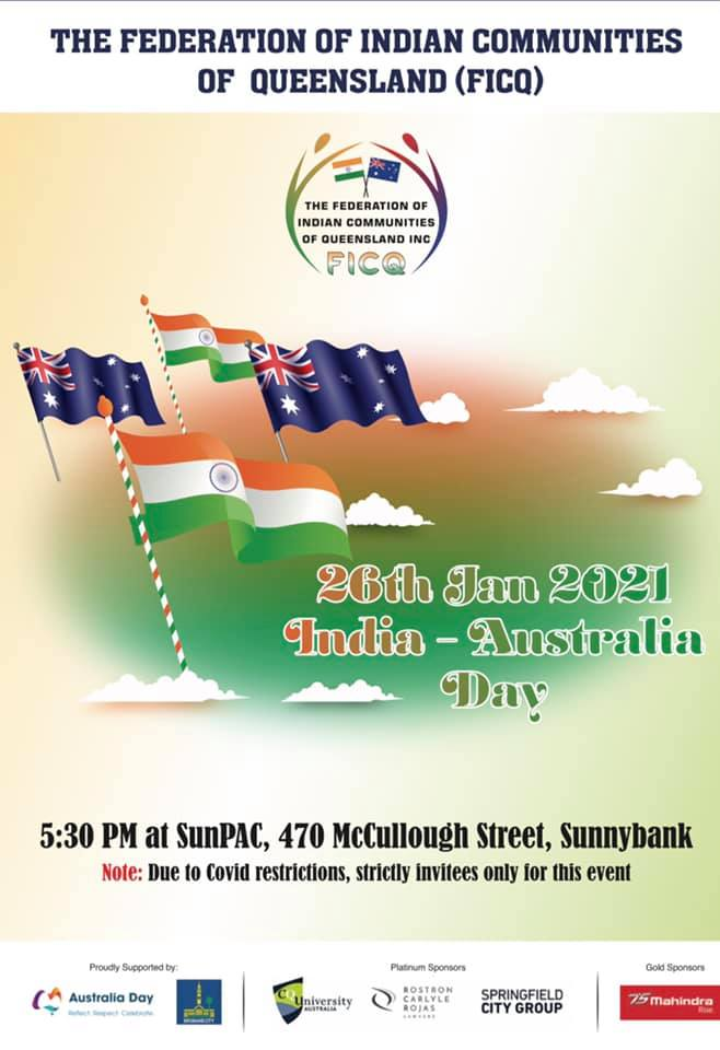 India-Australia Day Celebrations 26th Jan 2021